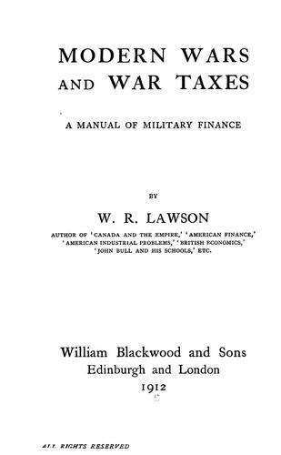 Modern wars and war taxes