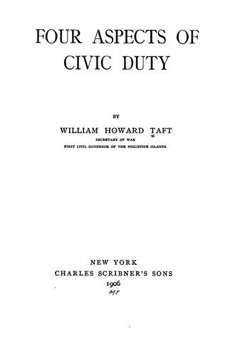Download Four aspects of civic duty