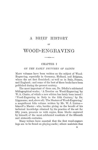 Download A brief history of wood-engraving from its invention