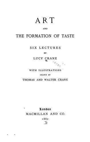 Art and the formation of taste
