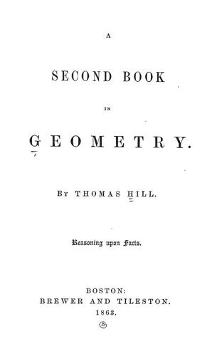 A second book in geometry.