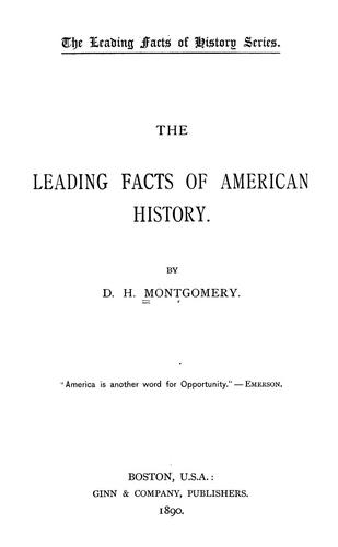 Download The leading facts of American history.