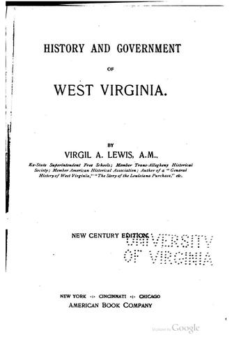 History and Government of West Virginia