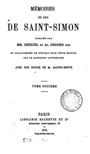Mémoires, publ. par mm. Chéruel et A. Regnier fils. With Table alphabétique rédigée par P. Guérin