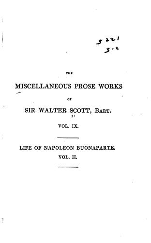 The Miscellaneous Prose Works of Sir Walter Scott, Bart