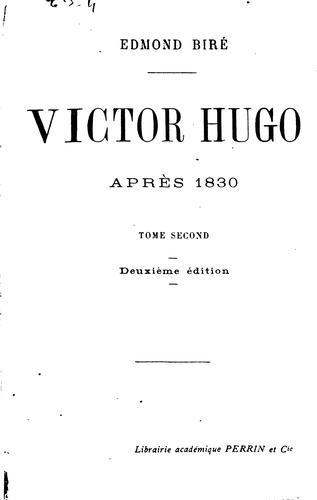 Victor Hugo après 1830