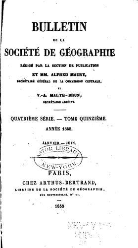 Download Bulletin de la Société de géographie