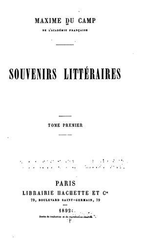 … Souvenirs littéraires …