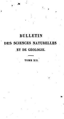 Bulletin universel des sciences et de l'industrie.