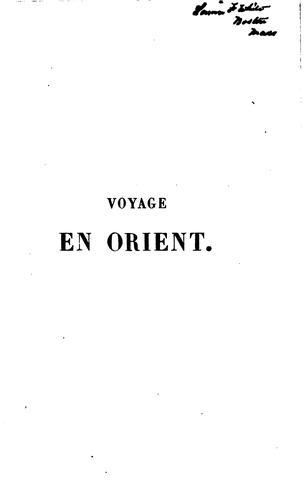 Voyage en Orient, 1832-1833