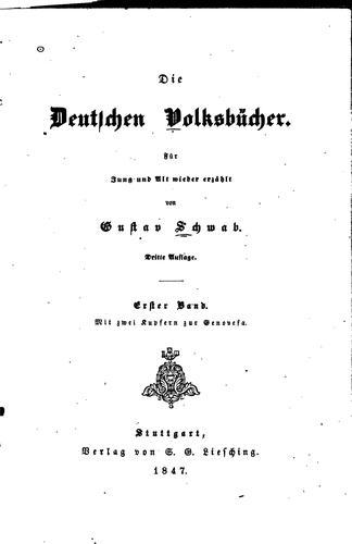 Die deutschen Volksbücher: für Jung und Alt wieder erzählt