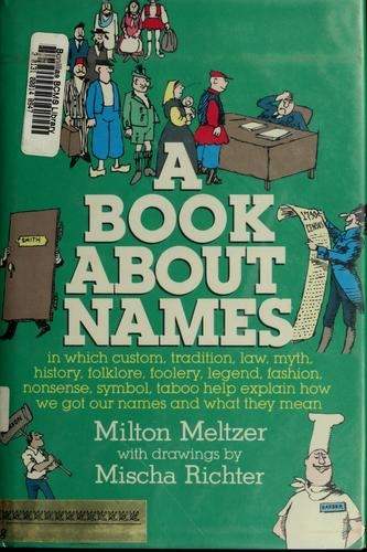 Download A book about names