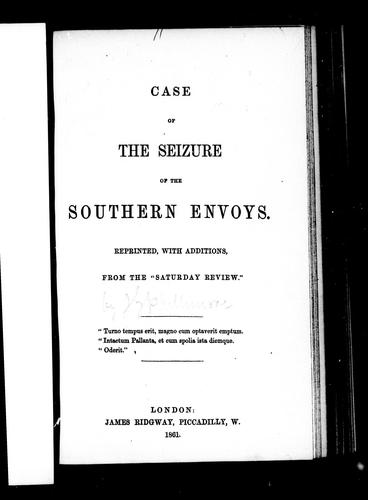 Case of the seizure of the southern envoys.
