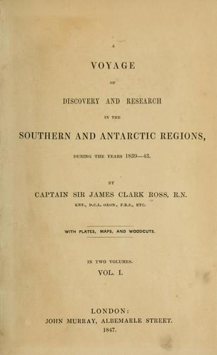 Download A voyage of discovery and research in the southern and Antarctic regions, during the years 1839-43