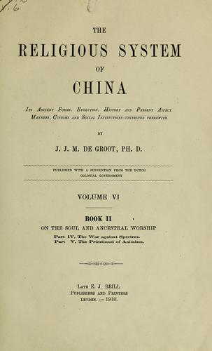 Download The religious system of China