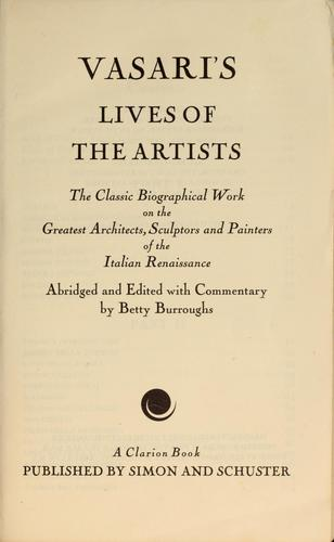 Download Vasari's Lives of the artists