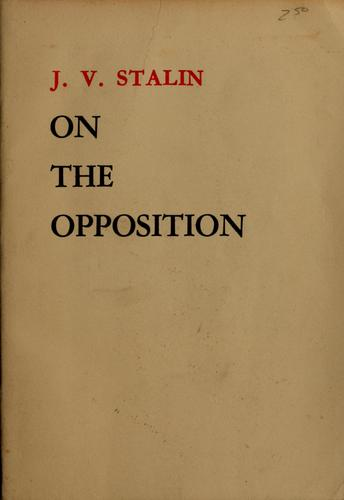 Download On the opposition, 1921-27