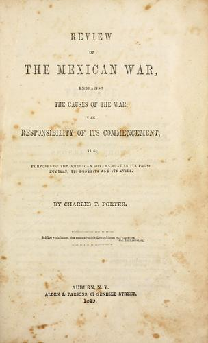 Download Review of the Mexican War