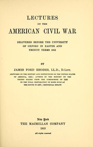 Download Lectures on the American Civil War