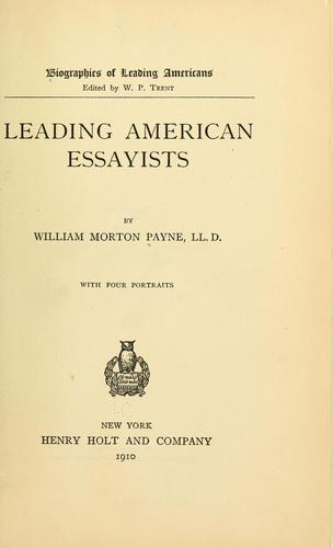Download Leading American essayists
