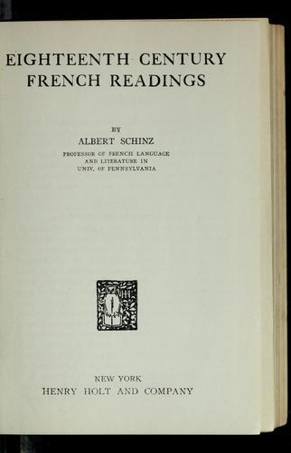 Eighteenth century French readings