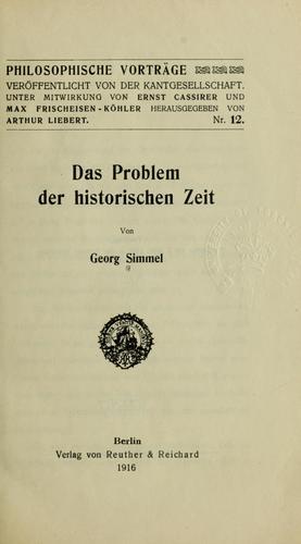 Download Das Problem der historischen Zeit