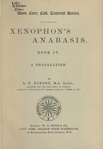 Anabasis.  Book IV