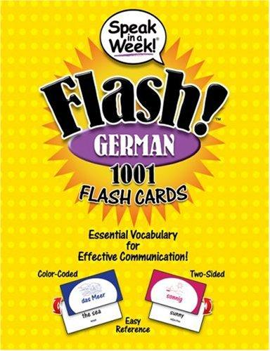 Speak in a Week! Flash! German: 1001 Flash Cards (German and English Edition), Overseas, Penton (Corporate Author)