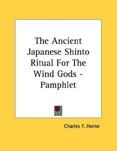 cover of  the ancient japanese shinto ritual for the wind gods   pamphlet by