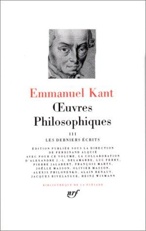 Oeuvres philosophiques, tome 3