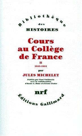 Cours au Collège de France (1838-1851)