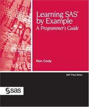 Learning SAS By Example: A Programmer's Guide PDF Download