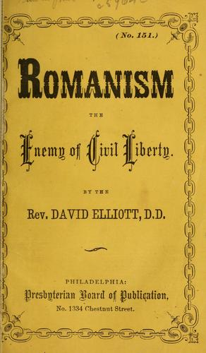 Romanism by David Elliott