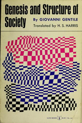 Download Genesis and structure of society.