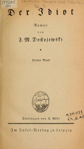 Sämtliche Romane und Novellen