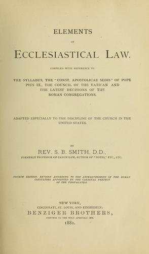 Download Elements of ecclesiastical law.