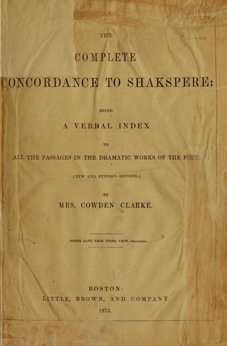 Download The complete concordance to Shakspere