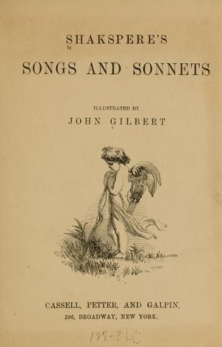 Download Shakspere's songs and sonnets