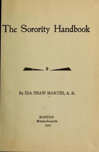 Download The sorority handbook