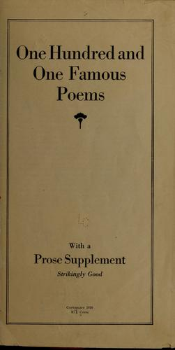 Download One hundred and one famous poems