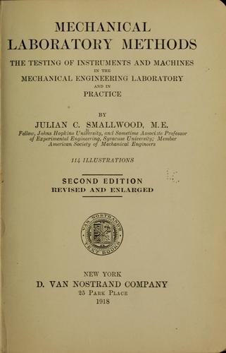 Download Mechanical laboratory methods