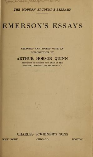 Download Emerson's essays