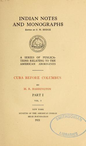 Cuba before Columbus
