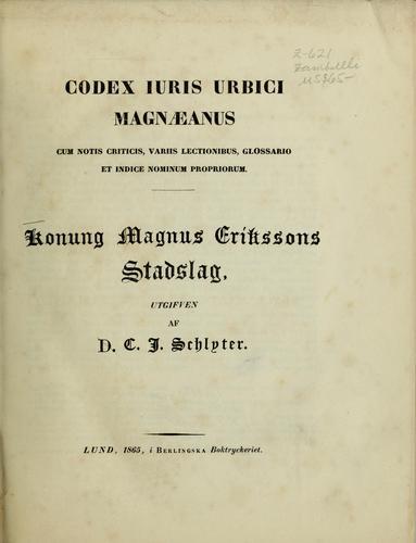 Codex iuris urbici magnaeanus