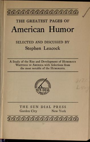 The greatest pages of American humor