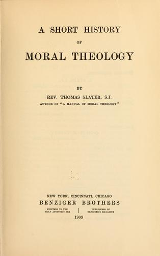 A short history of moral theology