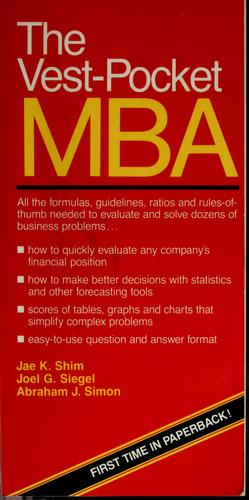 Download The vest-pocket MBA
