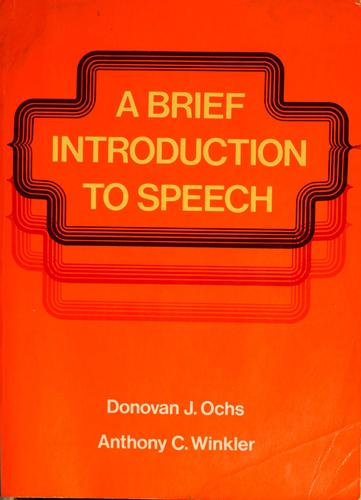 Download A brief introduction to speech
