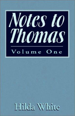 Notes to Thomas