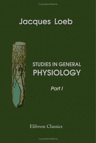Download Studies in General Physiology